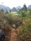 ทางเดินไปสถานที่ถ่ายทำสามชาติสามภพป่าท้อสิบหลี่